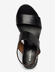 Bianco - BIACAILY Leather Wedge Sandal - compensées - black - 3