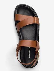 Bianco - BIADEBBIE Leather Strap Sandal - sandales - cognac - 3
