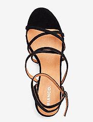 Bianco - BIADAYTON Suede Strap Sandal - sandales à talons - black 1 - 3