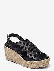 Bianco - BIADANEEN Per. Sandal - espadrilles mit absatz - black - 0