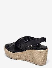 Bianco - BIADANEEN Per. Sandal - espadrilles mit absatz - black - 2