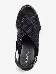 Bianco - BIADANEEN Per. Sandal - espadrilles mit absatz - black - 3