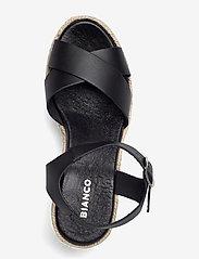 Bianco - BIADANEEN Sandal - espadrilles mit absatz - black - 3