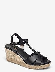 Bianco - BIADENA Sandal - espadrilles mit absatz - black - 0