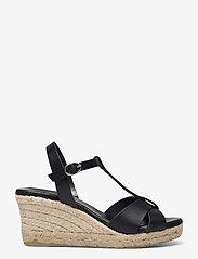 Bianco - BIADENA Sandal - espadrilles mit absatz - black - 1