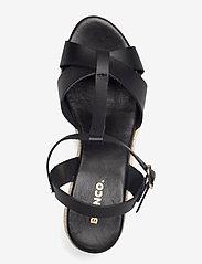 Bianco - BIADENA Sandal - espadrilles mit absatz - black - 3