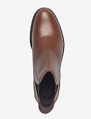 Bianco - V-Split Boot - platte enkellaarsjes - cognac - 3