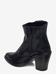 Bianco - BIADIRA Leather Snake Boot - enkellaarsjes met hak - black 8 - 2