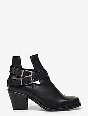 Bianco - BIACEDAR Open Leather Boot - enkellaarsjes met hak - black - 1