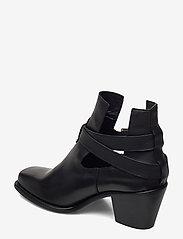 Bianco - BIACEDAR Open Leather Boot - enkellaarsjes met hak - black - 2