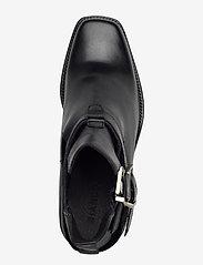 Bianco - BIACEDAR Open Leather Boot - enkellaarsjes met hak - black - 3