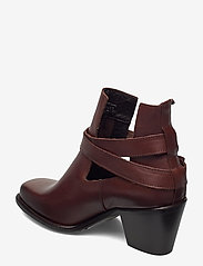 Bianco - BIACEDAR Open Leather Boot - enkellaarsjes met hak - dark brown - 2