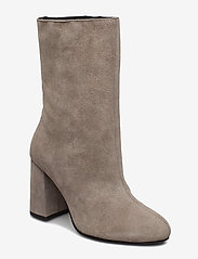 Bianco - BIACANDICE Suede Tube Boot - ankle boots with heel - warm grey - 0