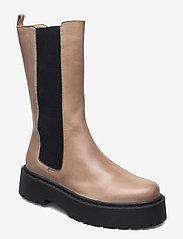 Bianco - BIADEB Long Boot - platte enkellaarsjes - light brown 6 - 0