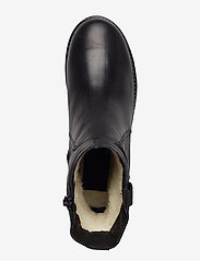 Bianco - BIAATALIA Winter Leather Boot - flat ankle boots - black - 3