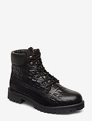 Bianco - BIACHARLIE Winter Hiking Boot - flade ankelstøvler - black 9 - 0