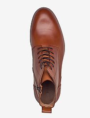 Bianco - BIABYRON Leather Lace Up Boot - veter schoenen - brandy - 3