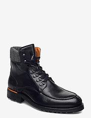 BIACARNEY Tweed Boot - BLACK