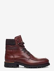 Bianco - BIACARNEY Tweed Boot - bottes lacées - cognac - 1