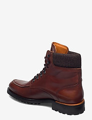 Bianco - BIACARNEY Tweed Boot - bottes lacées - cognac - 2