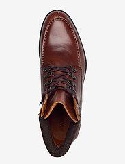 Bianco - BIACARNEY Tweed Boot - bottes lacées - cognac - 3
