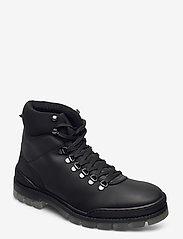 Bianco - BIACARY Leather Boot - bottes lacées - black - 0