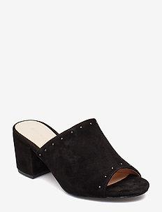 BIACATE Suede Mule Sandal - BLACK 10