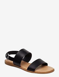 BIABROOKE Basic Leather Sandal - BLACK