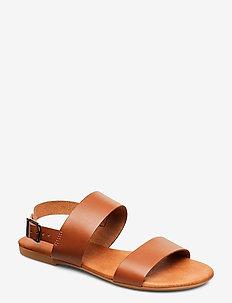 BIABROOKE Basic Leather Sandal - cognac