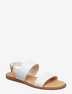 BIABROOKE Basic Leather Sandal - WHITE
