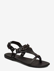 BIABECCA Verona Leather Sandal - BLACK