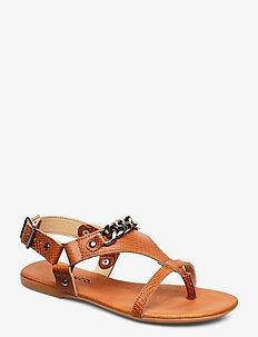 BIABECCA Verona Leather Sandal - cognac
