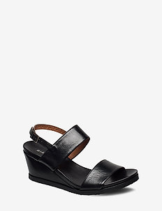 BIACAILY Leather Wedge Sandal - compensées - black