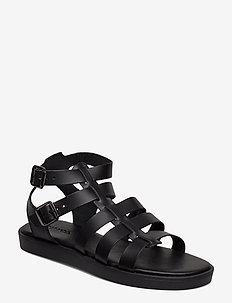 BIACAILIN Leather Sandal - BLACK