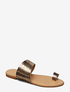 BIACAI Leather Toe Sandal - GOLD