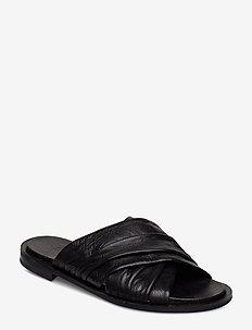BIACALIXA Leather Slipper - BLACK