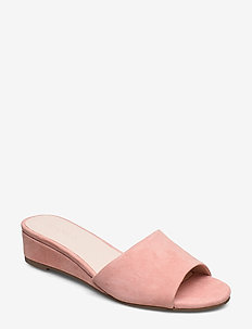 BIACARO Suede Wedge Sandal - LIGHT PINK 1