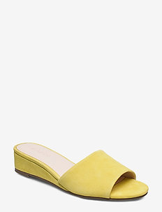 BIACARO Suede Wedge Sandal - YELLOW 1
