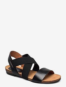 BIACALLIE Leather Sandal - BLACK