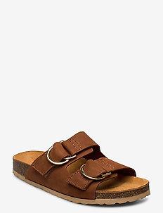 BIABETRICIA Leather Sandal - cognac 2