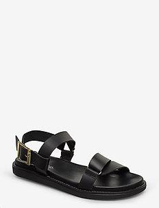 BIADEBBIE Leather Strap Sandal - sandales - black