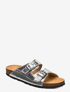 BIABETRICIA Buckle Sandal - platte sandalen - silver snake