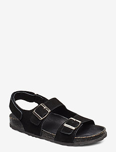 BIABETRICIA Suede Sandal - BLACK 1