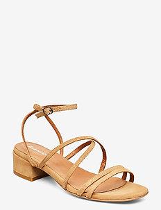 BIADEA Suede Strap Sandal - light brown 1