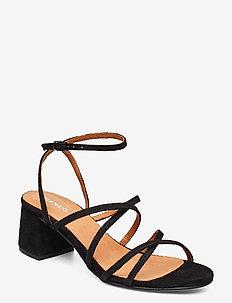 BIADAYTON Suede Strap Sandal - sandały na obcasie - black 1