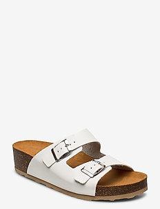 BIABETTY Wedge Buckle Sandal - white