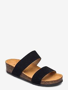BIABETTY Twin Strap Sandal - matalat sandaalit - black 1