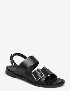 BIADARLA Cross Sandal - platte sandalen - black