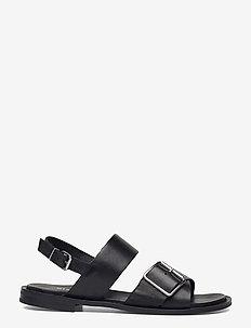 BIADARLA Cross Sandal - platta sandaler - black