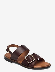 BIADARLA Cross Sandal - platte sandalen - dark brown